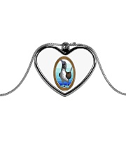 Blue Footed Booby Jewelry Metallic Heart Necklace thumbnail
