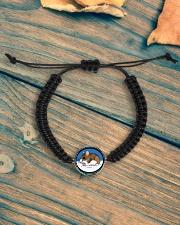 Woodland Mouse Jewelry Cord Circle Bracelet aos-bracelet-cord-front-lifestyle-4