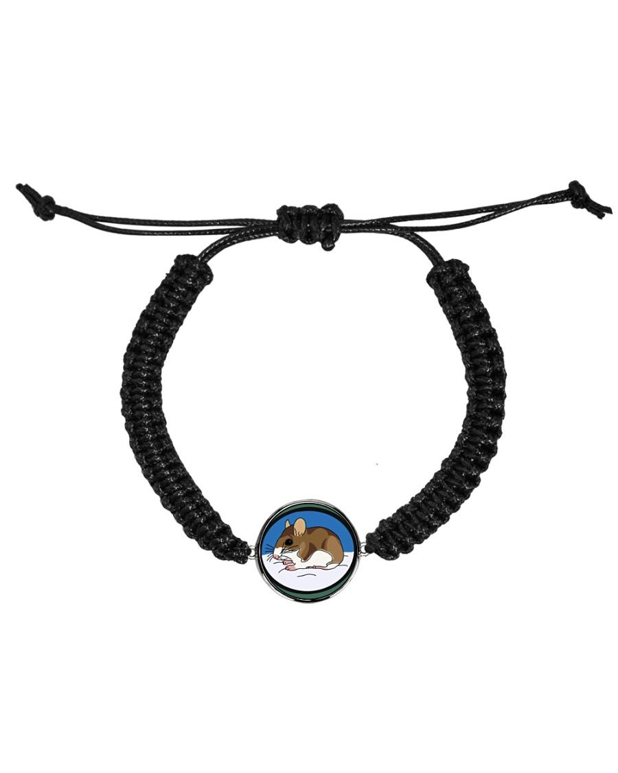 Woodland Mouse Jewelry Cord Circle Bracelet