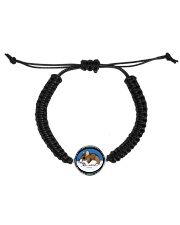 Woodland Mouse Jewelry Cord Circle Bracelet front