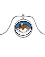 Woodland Mouse Jewelry Metallic Circle Necklace thumbnail