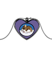 Woodland Mouse Jewelry Metallic Heart Necklace thumbnail