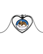 Woodland Mouse Jewelry Metallic Heart Necklace tile