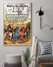 Horse While On This Ride Called Life  You Have To  11x17 Poster lifestyle-poster-1