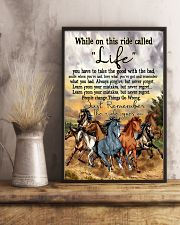 Horse While On This Ride Called Life  You Have To  11x17 Poster lifestyle-poster-3