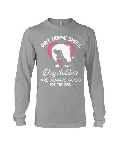 Horse Dirt horse smell and dog slobber