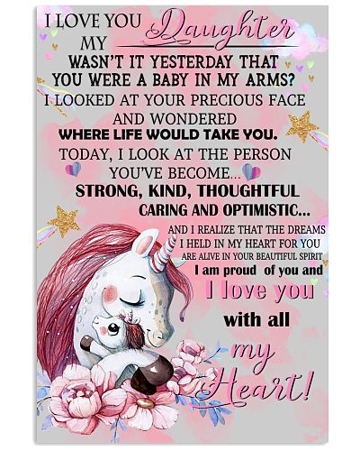 Unicorn I Love You To My Daughter My Wasn't It