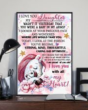 Unicorn I Love You To My Daughter My Wasn't It  16x24 Poster lifestyle-poster-2