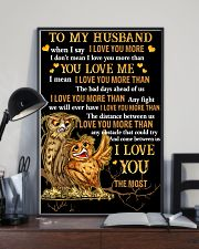 Owl To My Husband When I Say I Love You More  16x24 Poster lifestyle-poster-2