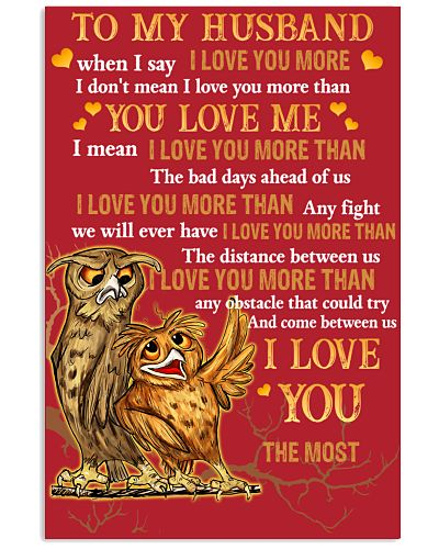 Owl To My Husband When I Say I Love You More