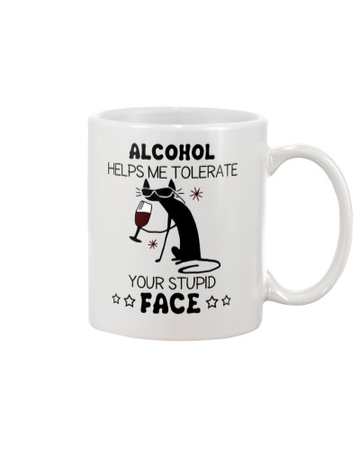 Cat Alcohol help me tolerate your stupid face