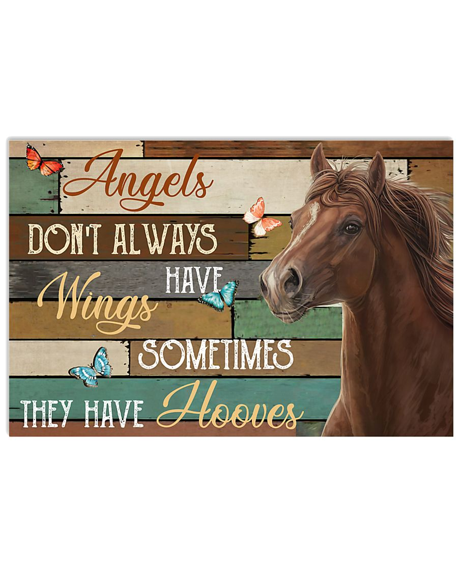 Horse Angels Don't Always Have Wings 24x16 Poster