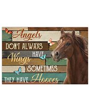 Horse Angels Don't Always Have Wings 24x16 Poster front