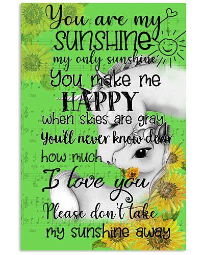 Unicorn You Are My Sunshine