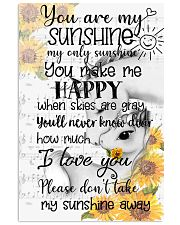 Unicorn You Are My Sunshine 16x24 Poster front