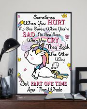 Unicorn Sometime When You Hurt 16x24 Poster lifestyle-poster-2