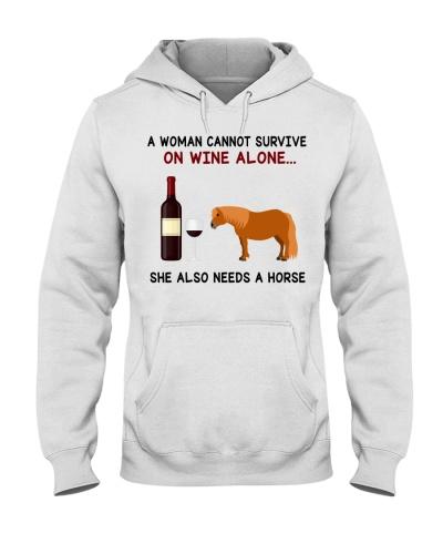 Horse Shetland A Woman
