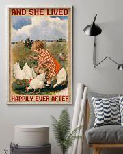 Chicken And She Lived Happily Ever After 16x24 Poster lifestyle-poster-1