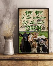 Cow Live Life Like Someone 16x24 Poster lifestyle-poster-3