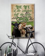 Cow Live Life Like Someone 16x24 Poster lifestyle-poster-7