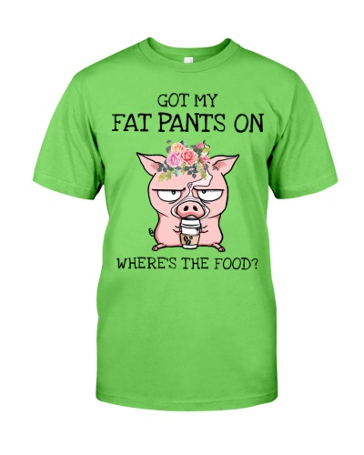 Pig Got my fat pants on Where's the food Funny