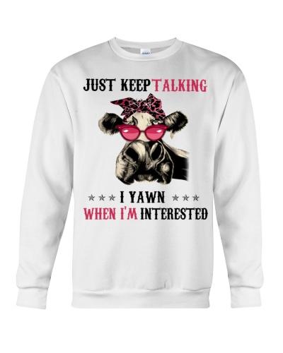 Cow Just Keep Talking I Yawn funny