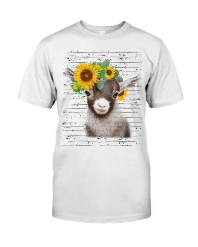 Baby goat sunflower Tee
