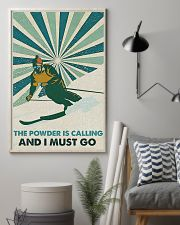 Skiing The Powder Is Calling 16x24 Poster lifestyle-poster-1