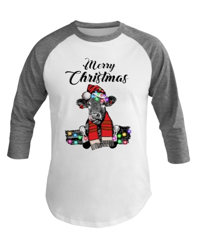 Cow merry christmas gift