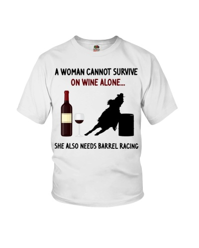 Barrel Racing A woman cannot survive on wine alone