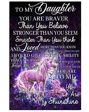 Baby Unicorn You are braver  Nursery Blanket 11x17 Poster front