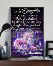 Baby Unicorn You are braver  Nursery Blanket 11x17 Poster lifestyle-poster-2
