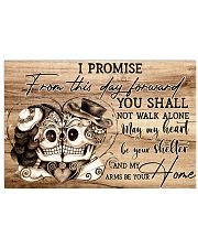 Skull I Promise From This Day  24x16 Poster front