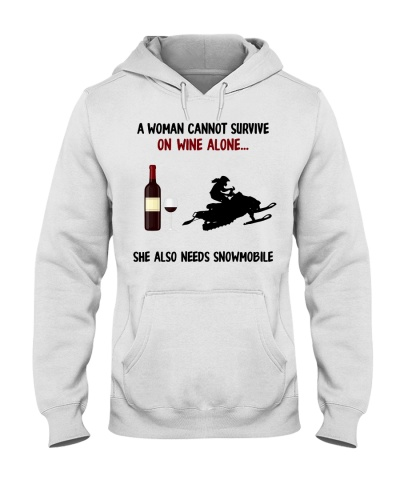 Snowmobile A woman cannot survive on wine alone