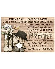 Country Living When I Say I Love You More  Horizontal Poster tile