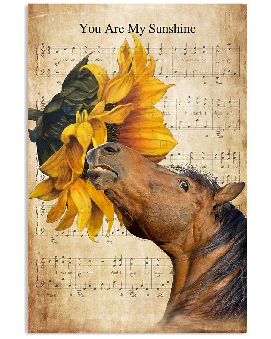 Horse You Are My Sunshine 16x24 Poster