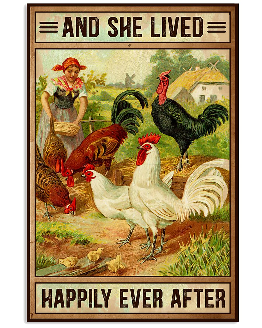 Chicken And She Lived  16x24 Poster
