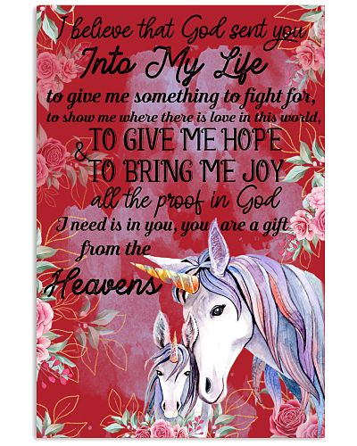 Unicorn I Believe That God Sent You Into My Life
