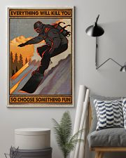 Snowboarding choose something fun 16x24 Poster lifestyle-poster-1