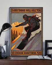 Snowboarding choose something fun 16x24 Poster lifestyle-poster-2