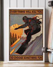 Snowboarding choose something fun 16x24 Poster lifestyle-poster-4