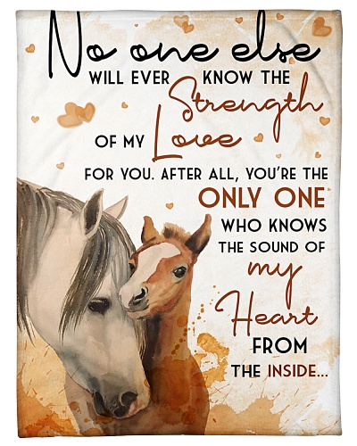 Baby Horse No One Else Nursery Blanket