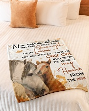 """Baby Horse No One Else Nursery Blanket Small Fleece Blanket - 30"""" x 40"""" aos-coral-fleece-blanket-30x40-lifestyle-front-01"""