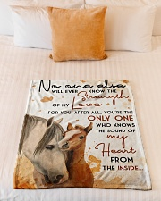 """Baby Horse No One Else Nursery Blanket Small Fleece Blanket - 30"""" x 40"""" aos-coral-fleece-blanket-30x40-lifestyle-front-04"""