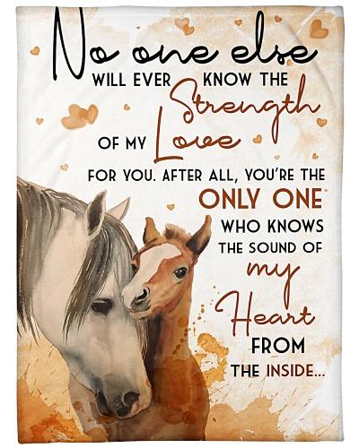 Baby Horse No One Else Nursery Blanket