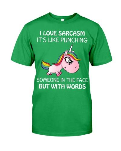 Unicorn I Love Sarcasm It's Like Punching