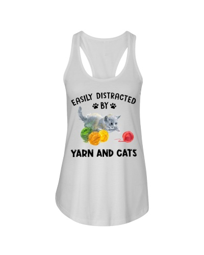 Cat Easily Distracted By Yarn And Cats