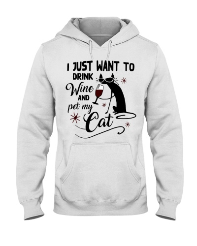 Cat I Just Want To Drink Wine