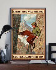 Climbing Choose something fun 16x24 Poster lifestyle-poster-2