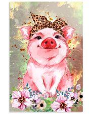 Pig Bandana Flower 16x24 Poster front